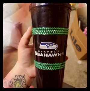 Seahawks tumble cup with lid/straw
